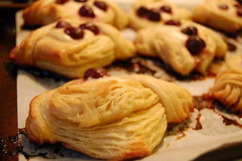layers on cherry cheese danish