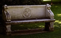 Bench at Rideau Hall (Mary Susan Smith) Tags: park bench rideauhall 3waychallengewinner photofaceoffwinner photofaceoffgoldmedal pfogold storybookwinner