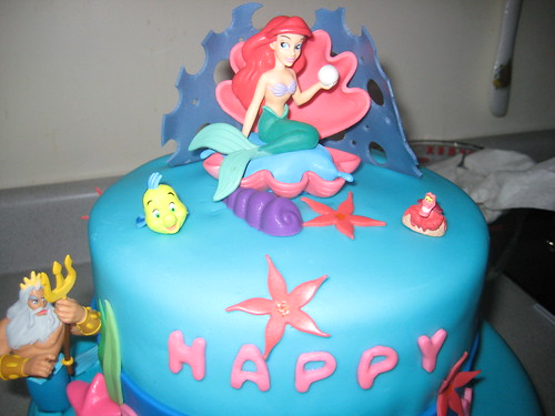 The Little Mermaid Birthday Cake Fondant. Fondant Cakes The Little