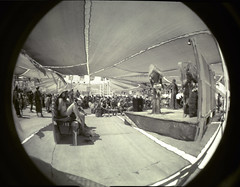Center Camp (Ivyerimenta) Tags: city party man black festival rock lomo desert nevada playa fisheye burningman blackrockcity burning event brc bm northern centercamp burningman2008