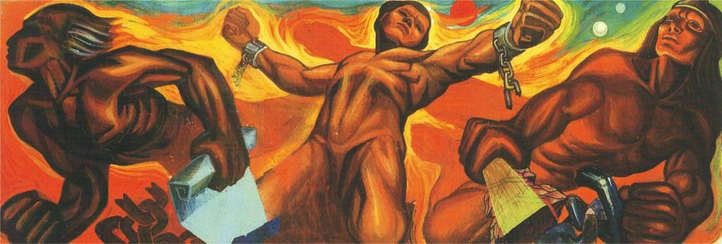 """Mural """"Liberación"""" que realizó el maestro pintor, grabador, muralista y escultor, Fernando Ramírez Osorio"""