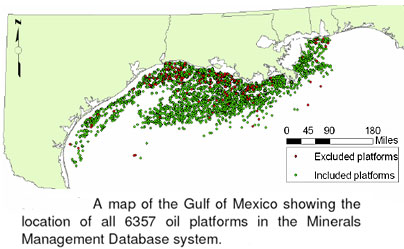 Oil Platforms in the Gulf of Mexico