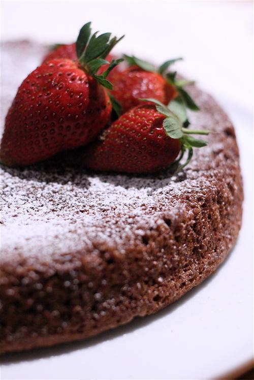 Butter espresso chocolate cake