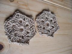 granny hexagon string coasters