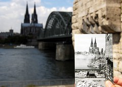 Colonia - Hohenzollernbrcke frher und jetzt (Xver) Tags: germany puente deutschland reisen europa kln alemania colonia brcke viajar nikond40
