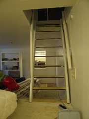 Stairs down to the playroom
