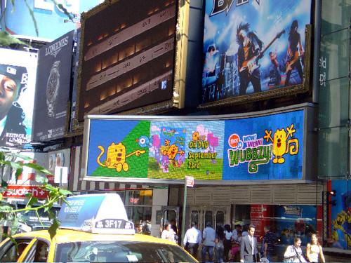 Wubbzy in Times Square