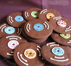 Chocolate Record Cookies (Whipped Bakeshop) Tags: warondrugs theroots kilo chocolatecookie capitolyears citypaper philadelphiabands zoelukas whippedbakeshop ethelcee recordcookie bestofphilly2010 philadelphiacakescookiesandcupcakes