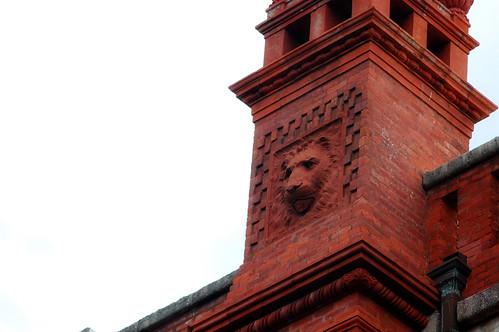 Lion in brick