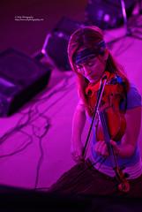 violinist (simis) Tags: pink blue portrait woman concert bokeh violin bandana fromarchives