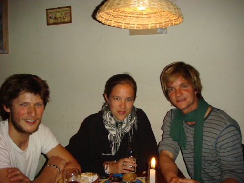 Nicolas, Elodie and Nicolai. Sucre - Bolivia.