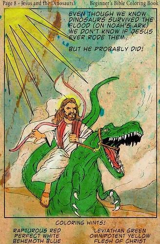 jezis na dinosaurovi