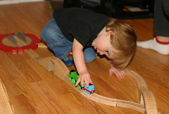 Play Is Serious Business (Squiggle) Tags: train toy play thomas daniel 2006 concentrate tankengine