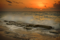 Restless! (mcazadi) Tags: ocean clouds sunrise mexico perfect rocks waves photographer award cancun the blueribbonwinner supershot platinumphoto visiongroup theunforgettablepictures goldstaraward multimegashot oraclex
