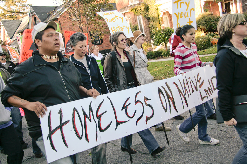 Protesting homelessness in Simcoe County