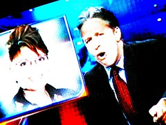 Jon Stewart + Sarah Palin on TV
