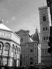 Santa Maria del Fiore e Battistero (Angelo Paolino) Tags: santa bw maria bn campanile cupola firenze fiore battistero brunelleschi