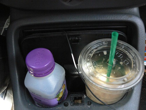 Cup holders in a vehicle