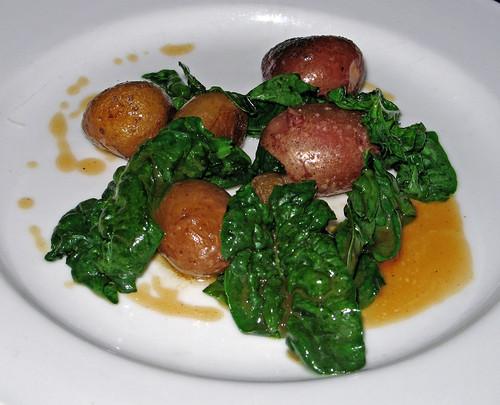 Roasted  potatoes with kale and sea salt