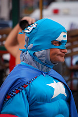 I Think I Saw the Captain America of Zur-En-Arrh (dogwelder) Tags: california man costume october tshirt comicbook superhero streetperformer hollywoodblvd zurbulon6 2008 captainamerica marvelcomics hollywoodandhighland zurbulon gatturphy