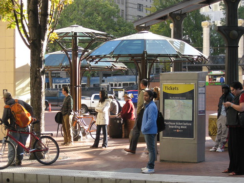 Umbrella Shelters at Pioneer Square