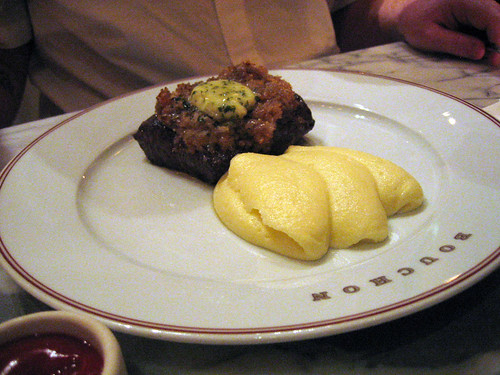 Steak with Puree de Pomme de Terre