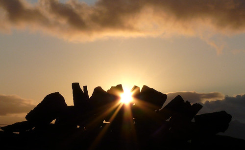 Dry stane sunset