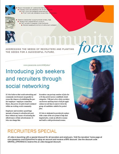 JZ Jobs Recruiter Flyer