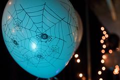 spider balloons (poopoorama) Tags: party halloween lights spider washington nikon bokeh balloon decoration sigma kirkland d300 1850mmf28exmacrohsm