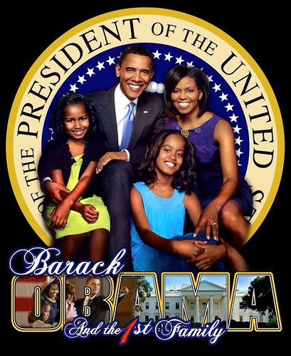 President Barack Obama & the First Family by dsmyre.