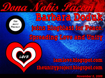 November 6, 2008 Blogblast for Peace