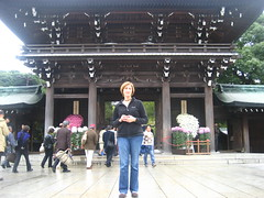 Jessica at the shrine