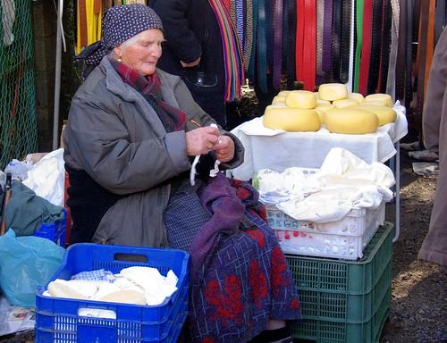 Vendedora de quesos
