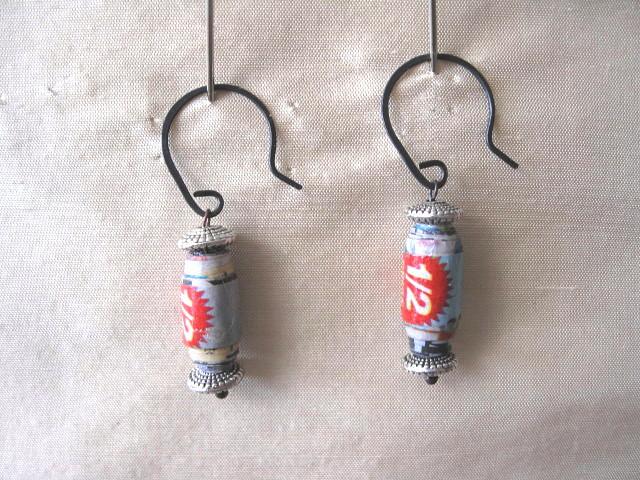 supermarket flyer earrings