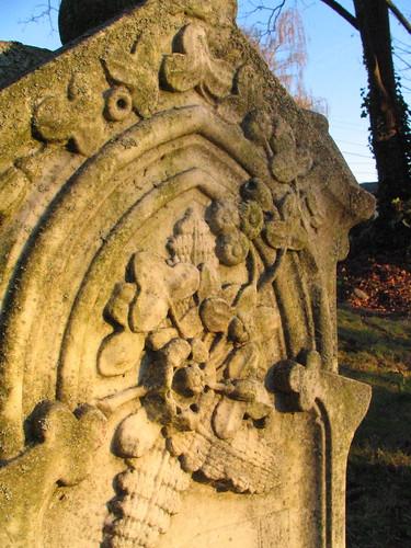 Gravestone detail.