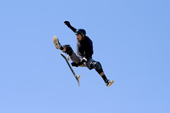 Buster Halterman - Oi Megarampa   www.analuz.net.br (Ana Luz) Tags: blue sky luz ana fly jump bob skate skater salto buster paulo oi pulo são analuz skatista megaramp skatebording halterman burnquist megarampa