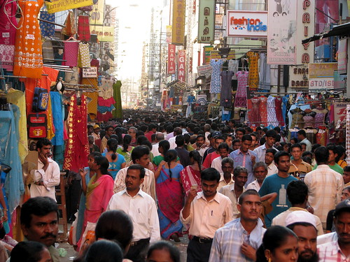 India - Chennai - busy T. Nagar market 2
