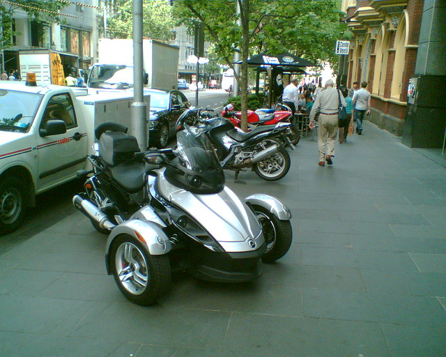 Big bike thing parked in Collins St