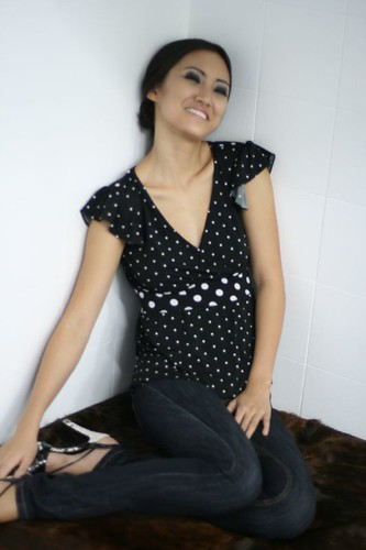 Annalyn in Dotted Line Photoshoot