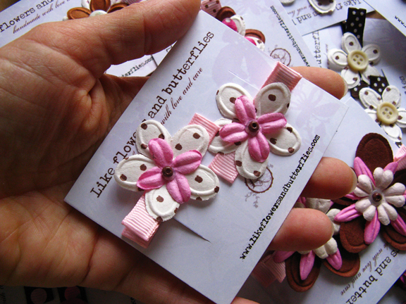 mulberry flower hair clips