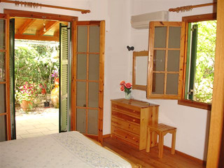 The master bedroom at Villa Lioniskari on Paxos by Sunisle Holidays