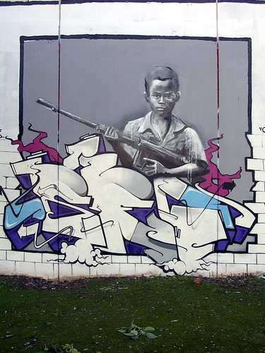 Niño soldado. Grafiti 23