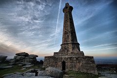Carn Brea Monument - December 2008 (Light Painted Cornwall) Tags: sunset sky monument tristan clouds canon lens eos evening cornwall angle wide trails sigma trail 1020mm ultra vapour brea redruth barratt camborne carn supershot 450d
