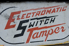 Electromatic Switch Tamper (colinmford) Tags: signs typography baltimore fallsroad