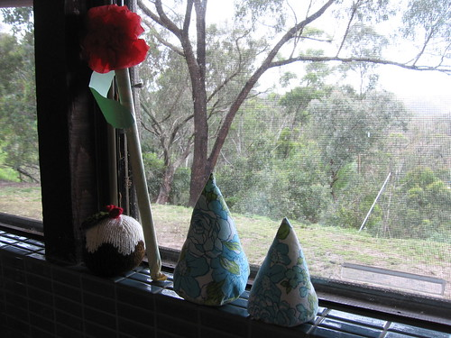 kitchen window at Christmas