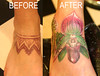 cover up-orchid flower tattoo by Mirek vel Stotker