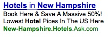 Ask's New Hampshire Hotels Ad