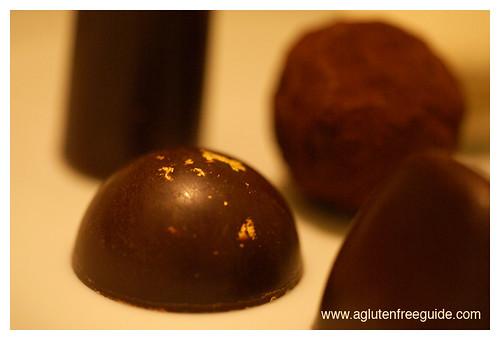 Corton NYC gold flaked truffle gluten-free