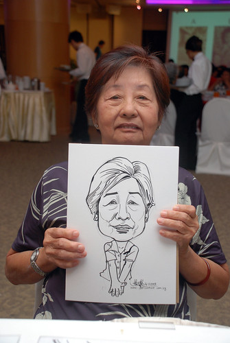 Caricature live sketching for Christ Methodist Church Christmas Celebration - 10