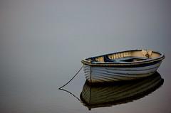Reflected (Upscape) Tags: reflection water grey boat nikon reflected maldon rowingboat d40 nikond40 rubyphotographer vosplusbellesphotos